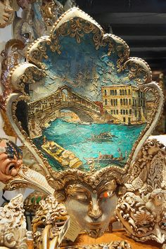 Venetian mask.Venice, Italy | Follow board on : http://pinterest.com/riccai/venetian-mask/