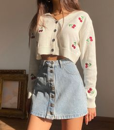 Indie Outfits, Teen Fashion Outfits, Korean Outfits, Cute Casual Outfits, Girly Outfits, Retro Outfits, Look Fashion, Stylish Outfits, Vintage Outfits