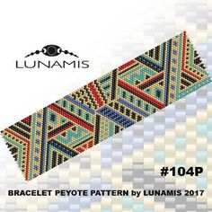 Peyote bracelet pattern, odd count, peyote pattern, stitch pattern, pdf file, pdf pattern, #104P by LunamisBeadsPatterns on Etsy