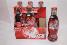 Coca Cola 2004 Holiday Santa 6 pack $12.50 FULL Coca Cola Bottles, Hot Sauce Bottles, Bottles For Sale, Coke, Holiday, Christmas, Santa, Plates, Adventure