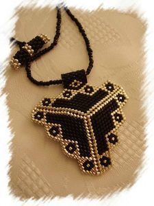 black & gold geometric...pin has glitch