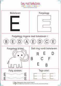 Alphabet Worksheets, Preschool Worksheets, Pre School, Teaching Kids, Montessori, Projects To Try, Education, Creative, English
