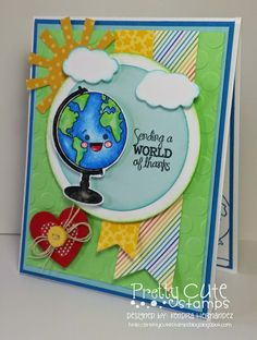 """Pretty Cute Stamps August 2014 New Releases....This is from """"The Write Stuff""""...designed by Kendra Hernandez www.prettycutestamps.com"""
