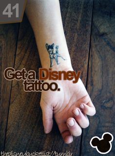 For me, body art should always have a meaning to YOU. So, a small Disney tribute doesn't sound like a bad idea for me <3