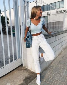 Trendy Summer Outfits, Cute Comfy Outfits, Preppy Outfits, Teen Fashion Outfits, Retro Outfits, Look Fashion, Stylish Outfits, Mode Ootd, Looks Style