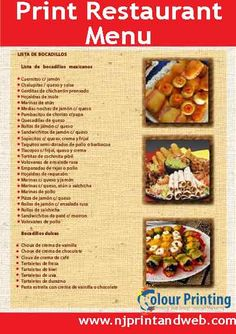 Online menu maker that lets you instantly create and #Print #Restaurant #Menu. http://www.njprintandweb.com/printing/print-restaurant-menu/
