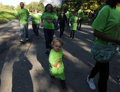Participants walk and run in the 1k Zombie Run at Brookside Park on Saturday. Photo by Nirmalendu Majumdar/Ames Tribune