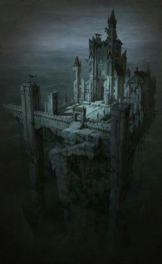 Fantasy Kunst, Fantasy City, Fantasy Castle, Fantasy Places, High Fantasy, Fantasy Rpg, Medieval Fantasy, Dark Fantasy Art, Fantasy World