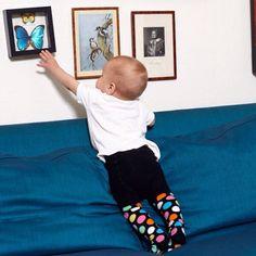 Happy Socks #baby tights #dots