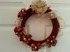 Rich burgundy and gold Christmas or holiday by ThePrincessLoft