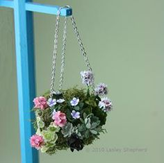 More than 50 Easy Miniature Projects to Make: Miniature Victorian Moss Hanging Basket Project for Beginning Modellers