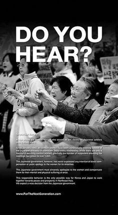 Korean comfort women advertising board the New York Times
