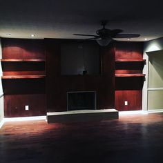 Complete renovation!  We went in and replaced just about everything (bathrooms, kitchen, roof, wall to wall and floor to ceiling) and now it\'s ready for you. #hardwood #carpet #granite #floatingvanity #vesselsink #tile #barndoor #roofing #thebuildersbuilder #painting #forsale #fayetteville #woodwork #vintagelighting #stainlesssteelappliances