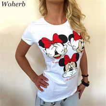 4 Style 2017 Mode À Manches Courtes T-shirts Lâche Occasionnel Femelle T chemises de Bande Dessinée Lettre Imprimer Haut O-cou Des Femmes t-shirt 71275(China (Mainland))