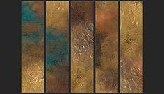 EXKLUSIVE 3D DESIGN VLIES TAPETE •• BETON GOLD •• ROLLENGRÖSSE 10 x 0,5 m