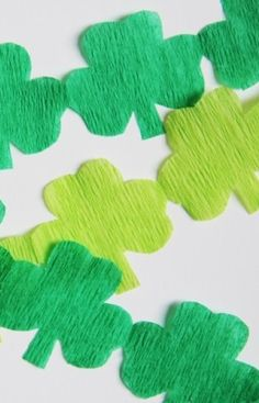 This shamrock garland is the perfect addition to your St. Patrick's Day celebration