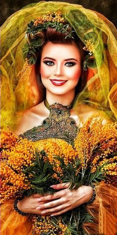 Painter Photography, Beauty Photography, Beautiful Girl Image, Beautiful Images, World Of Wearable Art, Double Exposition, Tree Woman, Autumn Aesthetic, Portrait Poses