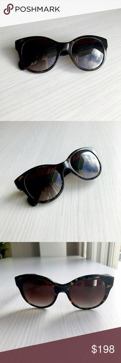 Oliver Peoples Tortoiseshell Cateye Sunglasses Chic oversized tortoiseshell frames with a flirty cateye shape. Handcrafted in Italy. Beautiful design, great condition -- only the faintest light scratching on the lens from normal everyday wear. Hope you love! Oliver Peoples Accessories Sunglasses