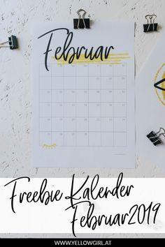 Willkommen im Liebesmonat Februar! Noch ein paar Tage und der Spuk ist vorbei, einen Kalender brauchen wir aber für den ganzen Monat. Deshalb habe ich heute ein Freebie Kalenderblatt für den Februar 2019 für euch. Solltet ihr lieber gleich den ganzen Kalender runterladen wollen könnt ihr euch gleich hier für meinen Newsletter anmelden und meinen Freebie Kalender 2019 per Mail erhalten. Diy Blog, Monat, Calendar, German, Bullet Journal, Printables, Baby, Paper, Jewelry Making