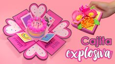 Mothers Day Gifts – Gift Ideas Anywhere Diy And Crafts, Crafts For Kids, Paper Crafts, Mothers Day Crafts, Mother Day Gifts, Homemade Gifts For Girlfriend, Pop Up Karten, Exploding Box Card, I Love Mom
