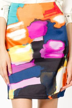 painterly print - bringing creativity to the professional Textile Prints, Textile Design, Textiles, Fabric Design, Print Design, Arty Fashion, Fashion Prints, Fashion Design, Fashion Styles