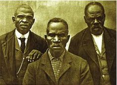 Survivors of the Slave Ship Wanderer: (L-R) Romeo, Ward Lee, Tucker Henderson. The captives aboard the slave ship Wanderer, which landed on the south end of Jekyll Island, Georgia in 1858. The Wanderer's owner, Charles Lamar, had secretly smuggled these Congo-born African Americans into this country and violated the laws against slave importation which had been in effect for many years, making them some of the last captured humans pressed into slavery in the USA.