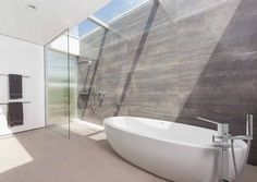 Contemporary Bathroom // A Family Home At A California Vineyard By Swatt Miers Architects