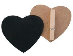 Μαυροπίνακας καρδούλα με μανταλάκι (22-145)