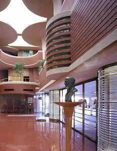 Frank Lloyd Wright, S.C. Johnson World Headquarters 3/4 by MindsiMedia 2012, via Flickr