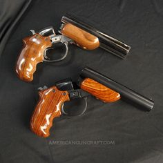 Diablo 12 Gauge Pistols, Nickel and Blued Finish Collectors Set with Rosewood Finish Grips | American Gun Craft