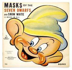 Snow White and the Seven Dwarfs Masks (Walt Disney Enterprises/Whitman, 1938)