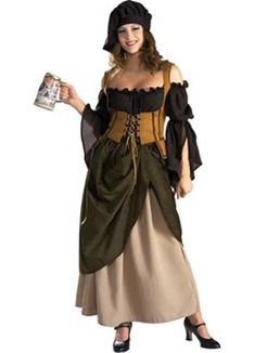 Adult Premium Tavern Wench Costume Rubies 56127, Standard, Size: Large, Multi