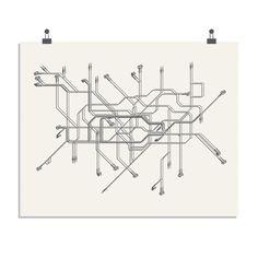 Sean Mort #Tube #Map #London #print #art