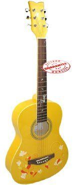 Kapok Lady's Acoustic 38 inches Guitar Yellow AW-LA-142-YL by Harmonia. $129.95. Celebrate the magic of music with this beautiful 3/4 size guitar 38 inches. Perfect for guitar classes private lessons and study or playing in their band it offers not only great sound and playability but an affordable price which is attractive to many players seeking a better than average beginner guitar. This guitar is easy to play tunable and will help to keep a player pursuing o... Acoustic Guitar Art, Guitar Classes, Guitar For Beginners, Musical Instruments, Dads, Study, Magic, Play, Education