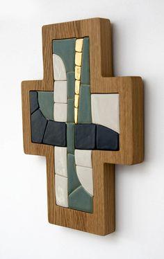 Cross  Original artwork hand made ceramic mosaic by LuboMichalko, €100.00 #christianart