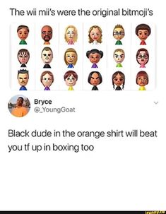 Black dude in the orange shirt will beat you tf up in boxing too - iFunny :) Stupid Funny Memes, Funny Relatable Memes, Funny Tweets, Funny Posts, The Funny, Funny Quotes, Hilarious, Dankest Memes, Just In Case
