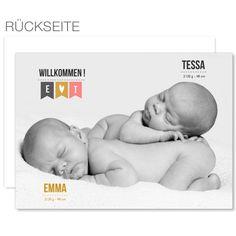 Geburtskarten Zwillinge - Zwillingsfoto