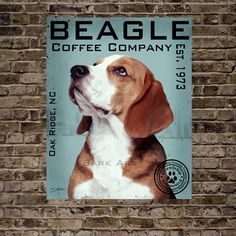 Beagle Coffee Company Print 16x20 (See last photo for other options) on Etsy, $40.00