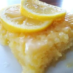 . Luscious Lemon Brownies Recipe from Grandmothers Kitchen.