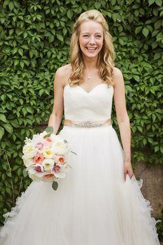 Her joy is contageous: http://www.stylemepretty.com/minnesota-weddings/2015/01/23/sweet-and-sophisticated-botanical-wedding/ | Photography: Studio Laguna - http://www.studiolaguna.com/