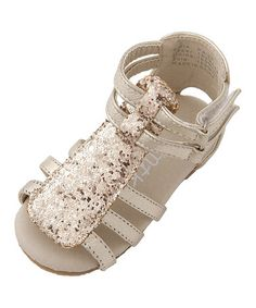 This Gold Paige Sandal by Mini Treasure Kids is perfect! #zulilyfinds