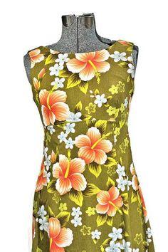Vintage UI-Maikai,1960 Hawaiian Cotton Dress #vintagefashion #retrofashion #1960fashion #hawaiianfashion
