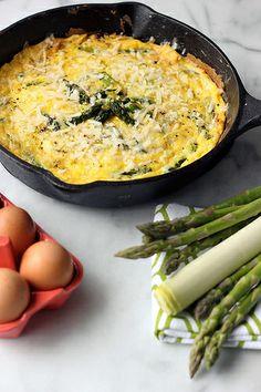 Asparagus & Leek Frittata - Gluten-free (dairy-free options) by Tasty ...