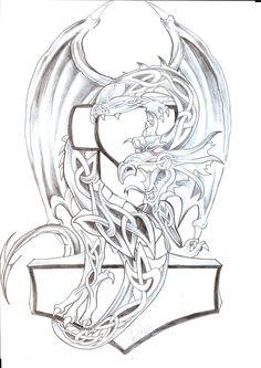 Celtic Dragon Th Tattoo Design by 2Face-Tattoo.deviantart.com on @deviantART