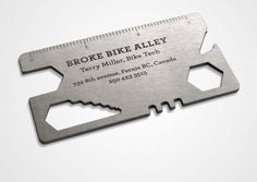 A bike repair shop's highly useful business card