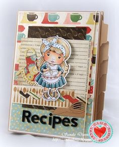 From our Design Team! Recipe Book by Sandie Dunne featuring Club La-La Land Crafts December 2015 exclusive Baker Marci, Happiness is Homemade stamp set and these Dies - Rolling Pin and Whisk, Ric Rac Border and Apron :-) Club La-La Land Crafts subscription details are here - http://lalalandcrafts.com/Club_La-La_Land_Crafts.html  Coloring details and more Design Team inspiration here - http://lalalandcrafts.blogspot.ie/2016/01/club-la-la-land-crafts-december-2015_12.html