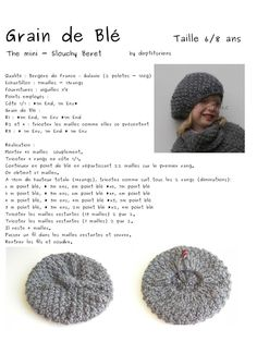 Aig no 6 - ans - ensemble béret poncho: Beginner Knitting Projects, Knitting For Kids, Knitting For Beginners, Baby Knitting, Shrug Knitting Pattern, Easy Knitting Patterns, Crochet Patterns, Crochet Blanket Tutorial, Crochet Cap