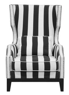 Classic Home Alice Club Striped Chair 53006885 For $659