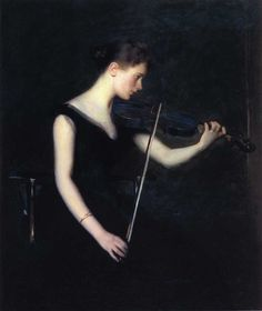 edmund tarbell | Girl With the Violin (1890). Edmund Charles Tarbell (American ...