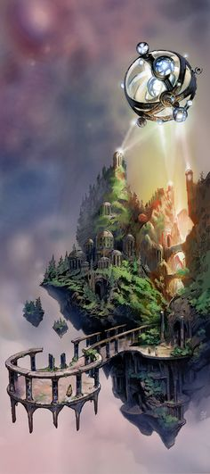 Ideas Fantasy Landscape Island Concept Art For 2019 – Landscaping 2020 Fantasy City, Fantasy Places, Fantasy World, Illustration Fantasy, Inspiration Artistique, Creation Art, Fantasy Setting, Fantasy Inspiration, Environmental Art